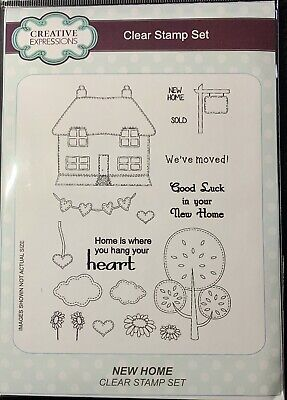 Creative Expressions A5 Clear Stamp Set - CEC755 New Home • 2.70£