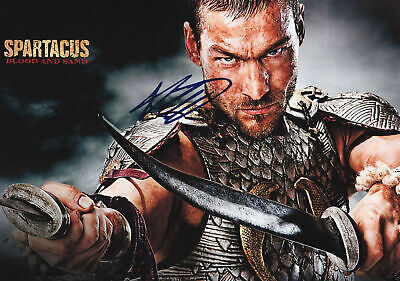 ANDY WHITFIELD SPARTACUS Poster Signed Autograph PRINT 6x4  GIFT • 1.99£