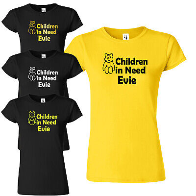 Personalised Children In Need 2020 Ladies T Shirt Pudsey Coloured Spot Tee Top • 11.99£