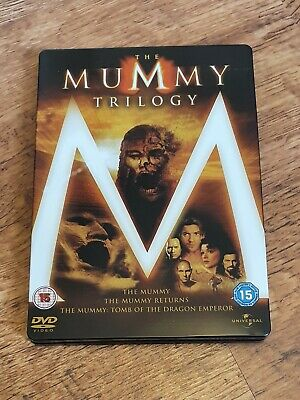 The Mummy Trilogy 3-Film Collection DVD Steelbook Free Postage • 0.99£