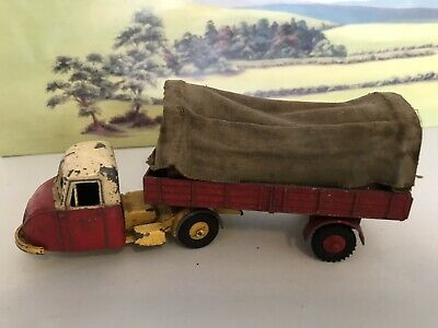 Vintage BUDGIE DIECAST TOYS SCAMMELL SCARAB And COVERED SEMI TRAILER • 21£