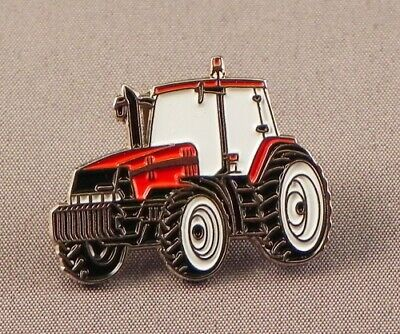Tractor Pin Badge. Red Version. Case. Metal. Enamel. Farmer. Farming • 1.50£