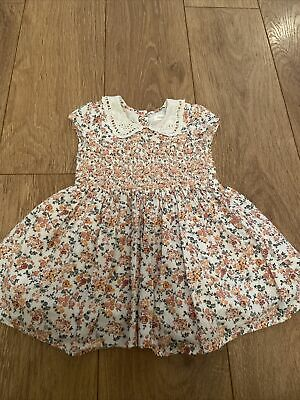 Baby Girl Floral Collared Dress Next 12-18 Months • 2.20£