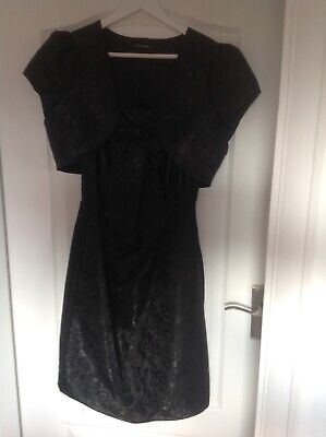 Autograph Lined Black Dress And Jacket,size 14 Used • 3.50£
