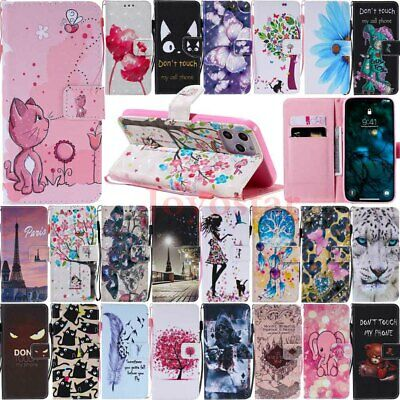 AU10.37 • Buy For IPhone 12 Mini 11 Pro Max XR X 7 8 SE Painted Wallet Flip Leather Case Cover