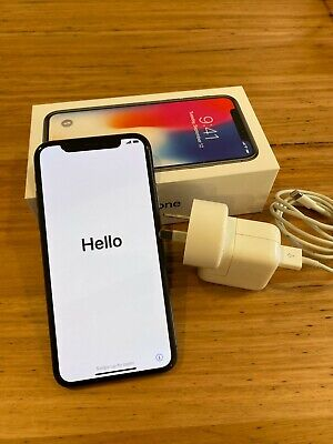 AU550 • Buy Apple IPhone X - 64GB Space Grey (A1865). Apple Leather & Quadlock Included.