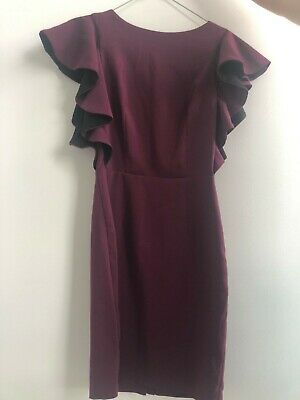 AU8.50 • Buy ASOS Maroon Work Dress, Size AU8, Original Price $85