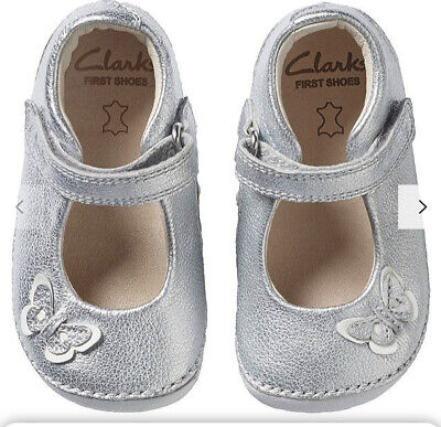 Infant Girls Clarks First Cruiser Shoes 'Little Mia' New Size 2 • 6.99£