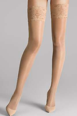 Wolford Satin Touch 20 Hold Ups Stays Ups • 25£