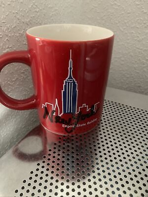 New York Ceramic Mug Mary Ellis Used Unwanted Collectable Souvenir Unwanted • 10£
