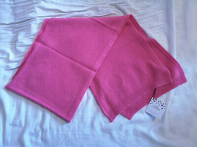 BNWT John Lewis Ladies Bright Pink Pure Cashmere Scarf RRP £60 • 48.99£