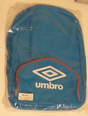 Umbro Corwin Back Pack - Blue With Red - Brand New With Tags -sealed In Plastic  • 3.99£