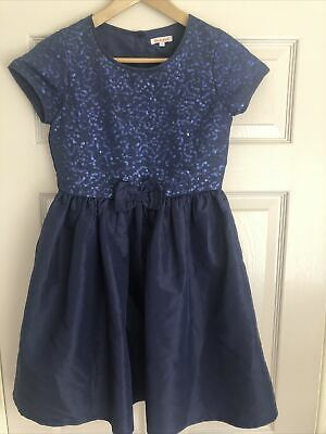 Girls Age 12 Bluezoo Party Dress In Dark Blue With Sparkles! • 1.20£