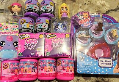Girls Toy Bundle, 12 Toy Surprises, Barbie, LPS, Shopkins, Kitty In My Pocket • 22£