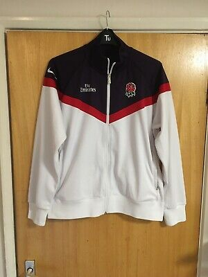 Genuine Nike England Rugby Tracksuit Top Size Large • 8.50£