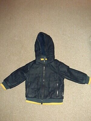 Baby Boys 9-12 Months Blue Leather Look Jacket • 3.95£