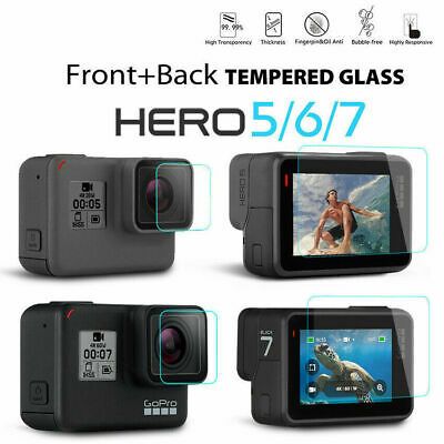 $ CDN6.71 • Buy Lens & Screen Protector Tempered Glass For Gopro Hero 7 6 5 Black Action Camera