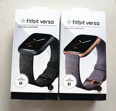 $ CDN109.74 • Buy Fitbit Versa Special Edition Smartwatch Fitness Activity Tracker Woven Band NEW