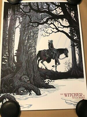 The Witcher 3 Wild Hunt Regular Becky Cloonan Video Game Poster Mondo Last Of Us • 80.50£