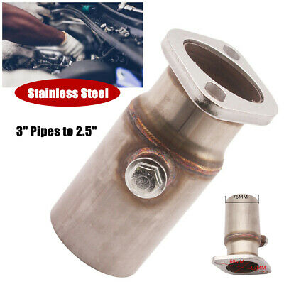 $43.45 • Buy 3inch Pipes To 2.5  2 Bolt Flange Reducer With O2 Bung Downpipe Car Exhaust Part