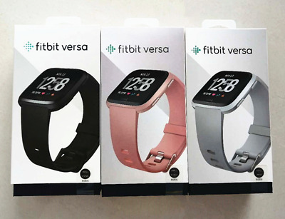 $ CDN87.71 • Buy Fitbit Versa Smartwatch Fitness Activity Tracker With L S Band Black Pink Silver