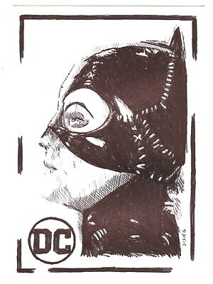 $ CDN14.03 • Buy ACEO Art Sketch Card DC Michelle Pfeiffer As Catwoman From Movie Ink Drawing A