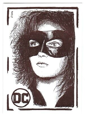 $ CDN14.03 • Buy ACEO Art Sketch Card DC Camren Bicondova As Catwoman From Gotham Ink Drawing B