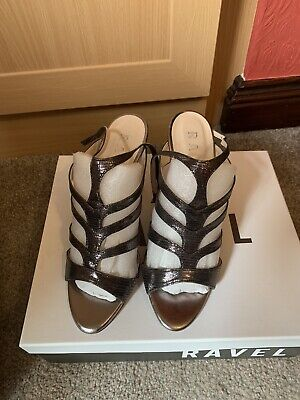 Ravel Pewter Leather Shoes, Size 5, £80 New, Worn Once, Boxed • 4£