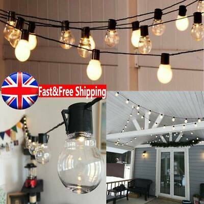 20LEDs Mains Powered Retro Bulb String Lights Garden Outdoor Hanging Fairy Lamps • 12.58£