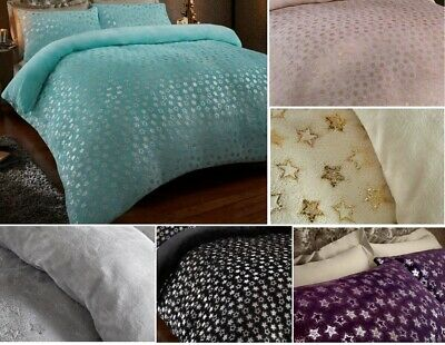 STAR FOIL Velvet Touch Fleece Fitted Bed SHEET Warm And Cozy • 17.09£