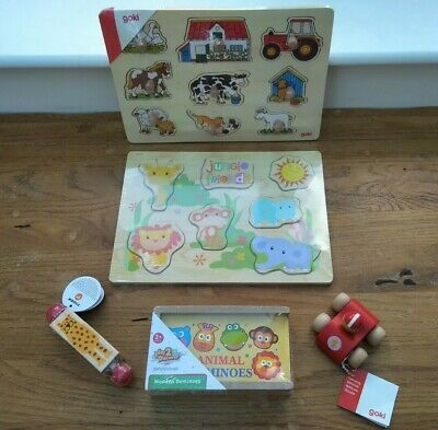 Wooden Toy / Puzzle Bundle Age 1 / 2 + Stocking Fillers One / Two Year Old • 15£