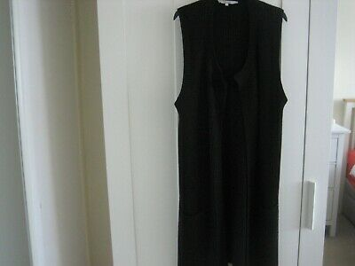 Ladies Long Length Knitted Waistcoat. Size Large. From Peacocks.New No Labels • 6£