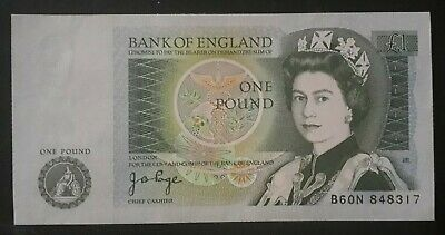 Bank Of England One Pound Note- J.B. Page 1978 UNC • 1.99£