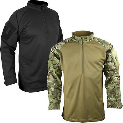 Kombat Tactical UBACS Mesh Fleece Shirt Ripstop Polycotton Black/BTP Camo • 27.95£