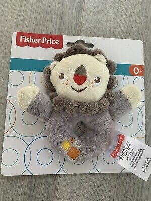 Fisher Price Baby Lion Teddy Bear Soft Toy Plush With Rattle Cuddle Gift • 8£