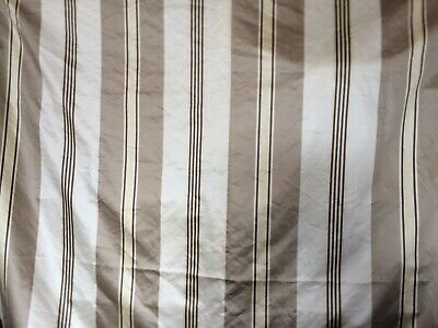 Furnishing Fabric Remnant 3.59 M X 1.45 M Wide Striped Satin Ivory Cream Taupe • 11.99£