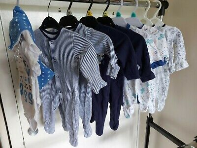 Large Bundle Twin Twins Baby Boys Newborn Sleepsuits Clothes First Size • 8.50£