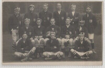 Sport Unlocated School/College Rugby Football Team Real Photo Postcard C.1916 • 7.99£