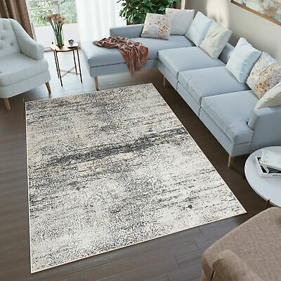 Modern Grey Ivory Area Rug Abstract Vintage Floral Living Room Small Large Rugs • 92.29£