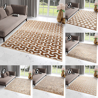 New Small Large Beige Rug High Quality Floral Vintage Geometric Rugs Living Room • 59.29£