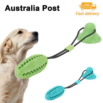 AU9.89 • Buy Pet Molar Bite Toy Multifunction Floor Suction Cup Dog Balls Interactive Puppy