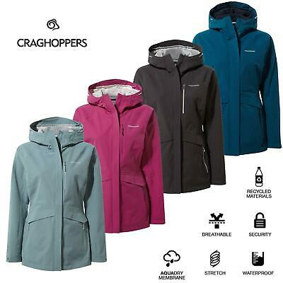 Craghoppers Womens Caldbeck Waterproof Breathable Stretch Hooded Jacket Coat • 94.99£