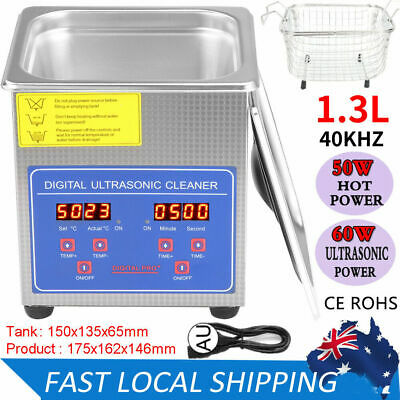 AU73.79 • Buy 1.3L Ultrasonic Cleaners Cleaning Equipment Industry Heated Heater With Timer AU