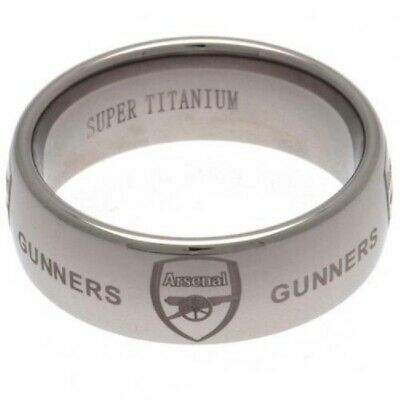 £39.95 • Buy Arsenal FC Scratch Resistant Mens Super Titanium Ring SMALL MED LARGE Official