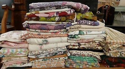 Joblot Of Vintage Retro 60s, 70s, 80s,90s Fabric Material • 30£