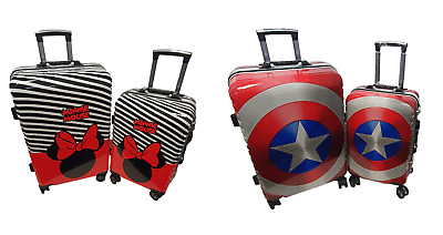 Children Kids Holiday Travel Hard Shell Suitcase Luggage Trolley Bags Adults UK • 45.99£