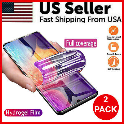 $ CDN7.51 • Buy 2-Pack HYDROGEL Screen Protector Samsung Galaxy S20 Ultra S10 S9 S8 Plus Note 20