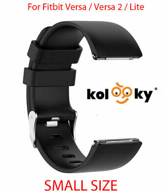 $ CDN7.42 • Buy Strap For Fitbit Versa, Versa 2, Versa Lite Replacement Band Buckle Black SMALL