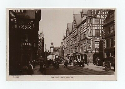 Vintage Real Photo Postcard Chester Cheshire - The East Gate • 4.50£