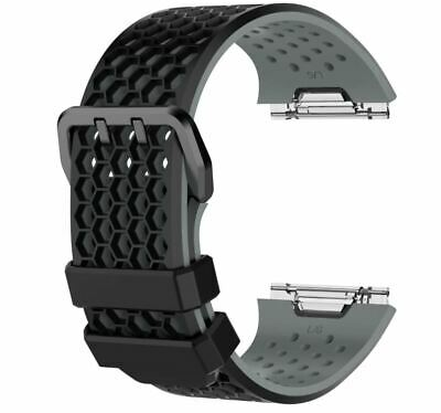 $ CDN12.36 • Buy For Fitbit Ionic Strap Silicone Sport Replacement Band Watch Black & Grey LARGE